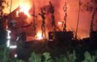 На Хустщині рятувальники 6 годин гасили пожежу в приватному будинку