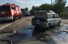 У Виноградові сталося потрійне ДТП. На місце події довелося викликати пожежників