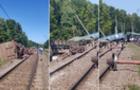 Кілька поїздів до Закарпаття затримуються через сходження з рейок вантажних вагонів