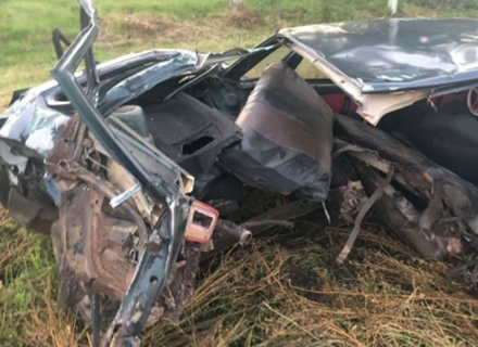 На Великоберезнянщині в результаті ДТП автомобіль розломило навпіл (ФОТО)