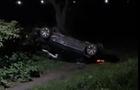 На Мукачівщині автомобіль злетів з дороги і перекинувся на дах (ВІДЕО)