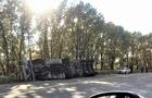 На Берегівщині перекинулася вантажівка з напівпричепом