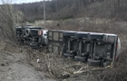 На Закарпатті перекинулися дві вантажівки. Одна з них - з газом