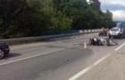 На трасі Київ-Чоп Mersedes зіштовхнувся з мотоциклом