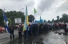В Ужгороді профспілкові функціонери перекрили вулицю Івана Франка