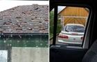 Град на Закарпатті нищив дахи будинків та автомобілі (ФОТО)