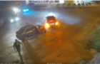 Камери відеоспостереження у Виноградові зафіксували, як після аварії пасажири тікають з автомобіля (ВІДЕО)