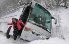 У Карпатах перекинувся автобус з туристами (ФОТО)