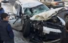 У Сваляві легковик розбив припаркований мікроавтобус