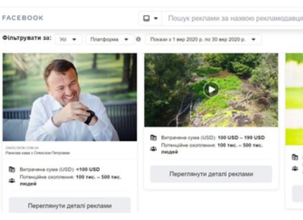 Лише за один місяць голова Закарпатської ОДА витратив на власну рекламу в соцмережах понад 45 тисяч грн.