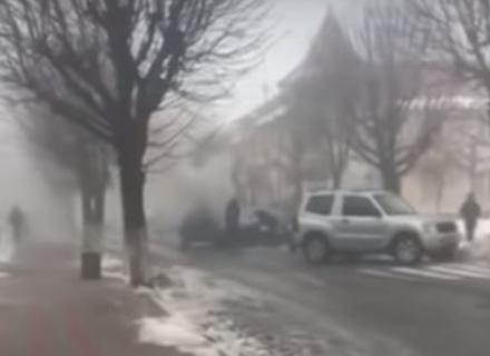 У Виноградові автомобіль загорівся під час руху (ВІДЕО)