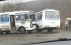 На Мукачівщині зіштовхнулися два рейсові автобуси