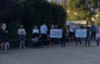 У Чопі люди протестують проти карантинних обмежень