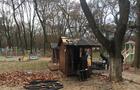 В Ужгороді в Боздоському парку згорів торговельний кіоск (ФОТО)