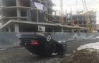 В Ужгороді біля Боздоського парку в результаті зіткнення один з автомобілів перекинувся на дах (ФОТО)