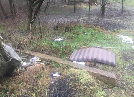 В Ужгороді в Боздоському парку, після того як зійшов сніг, вкрита сміттям (ФОТО)
