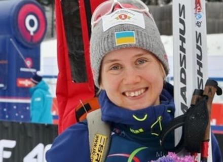 Закарпатська біатлоністка Меркушина завоювала срібло в спринті на чемпіонаті України