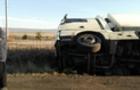 Перед Ужгородом вантажівка перекинулася в кювет