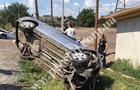 На Ужгородщині автомобіль перекинувся у кювет