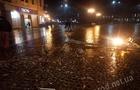 Ліхтар на площі Петефі в Ужгороді збив чиновник ОДА. Поліція вже знайшла винуватця