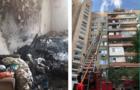 Поліція оприлюднила відео евакуації людей в Ужгороді з багатоповерхового будинку, в якому сталася пожежа
